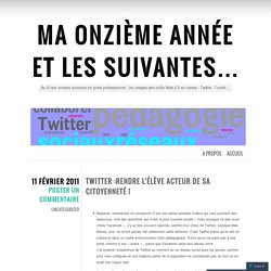Twitter :rendre l'élève acteur de sa citoyenneté !