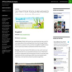20 Twitter tools reviewed | J99 Social Media Strategies