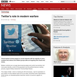 Twitter's role in modern warfare