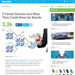 3 Twitter Rumors and What They Could Mean for Brands