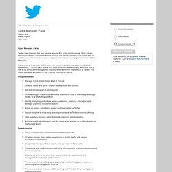 Twitter, Inc. - Sales Manager, Paris