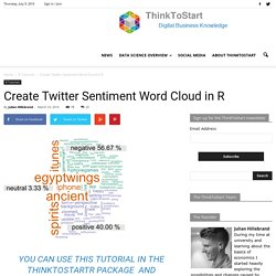 Create Twitter Sentiment Word Cloud in R - ThinkToStart