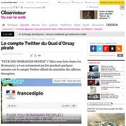 Le compte Twitter du Quai d'Orsay piraté - Vu sur le web
