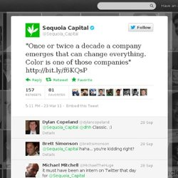 "Sequoia Capital: ""Once or twice a decade a"