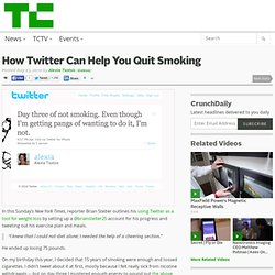 How Twitter Can Help You Quit Smoking