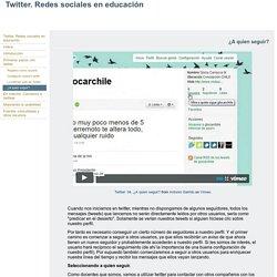Twitter. Redes sociales en educación