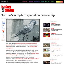 Twitter's early-bird special on censorship