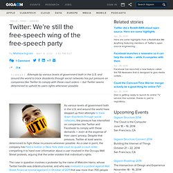 Twitter: We're still the free-speech wing of the free-speech party