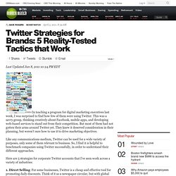 Five Twitter Strategies That Every Brand Should Know