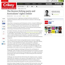 Twitter subpoena social media Boston occupy movement