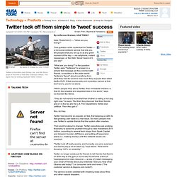 Twitter took off from simple to 'tweet' success