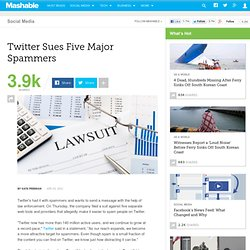 Twitter Sues Five Spamming Sites