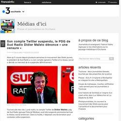 Son Compte Twitter Suspendu, Le PDG De Sud Radio Didier Maïsto Dénonce «une Censure»
