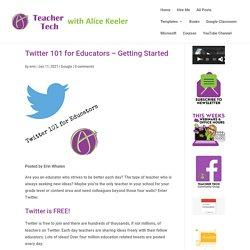 Twitter 101 for Teachers - The Basics on Getting Started