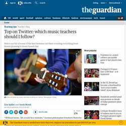 Top on Twitter: which music teachers should I follow?