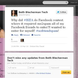 Beth Blecherman: Why did #IKEA do Facebook