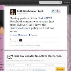 Beth Blecherman: Seeing posts written that