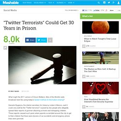 """""""Twitter Terrorists"""" Could Get 30 Years in Prison"""