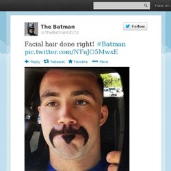 TheBatmanbitchz : Facial hair done right! #Batman