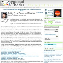 Twitter Tools, Tweaks and Theories: TypePad Hacks