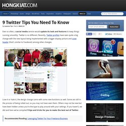 9 Twitter Tips You Need To Know