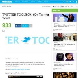 TWITTER TOOLBOX: 60+ Twitter Tools