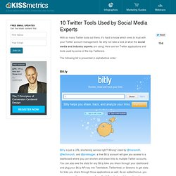 10 Twitter Tools Used by Social Media Experts