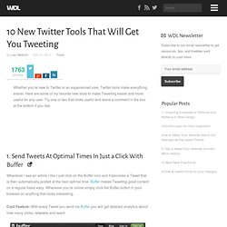 10 New Twitter Tools That Will Get You Tweeting | Tools