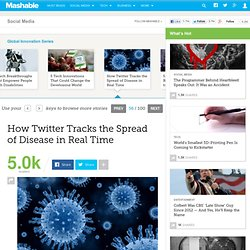 Twitter Tracks Spread of Disease in Real Time