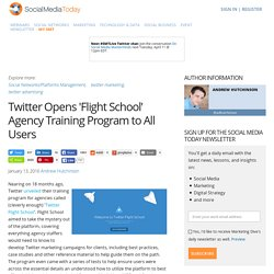Twitter Opens 'Flight School' Agency Training Program to All Users