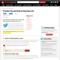 13 Twitter Tips and Tricks to Tweet Like a Pro - Webopedia