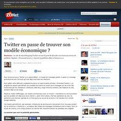 Twitter en passe de trouver son modèle économique ?