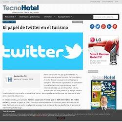 El papel de twitter en el turismo
