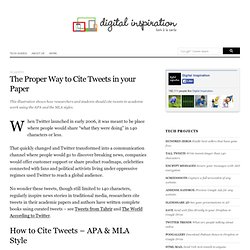 How to Cite Twitter Tweets in your Academic Paper - APA and MLA Style