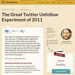 The Great Twitter Unfollow Experiment of 2011