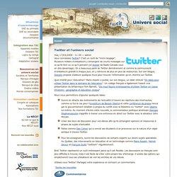 Twitter et l'univers social