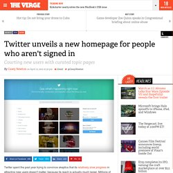 Twitter unveils a new homepage for people who aren't signed in