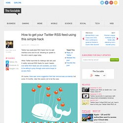 Twitter removes all search RSS links from its site, now users must resort to hacks to get feeds