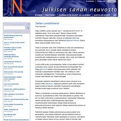 Twitter uutislähteenä - Blog - JSN