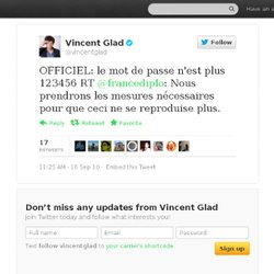 Vincent Glad: OFFICIEL: le mot de passe