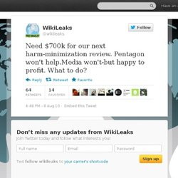 WikiLeaks: Need $700k for our next ha