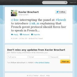 Xavier Brochart: @loic interrupting the pan