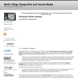 Beth's Blog: How Nonprofits Can Use Social Media: Twittera