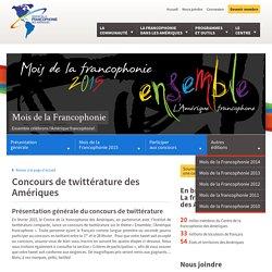 Concours de twittératures - Mois de la Francophonie