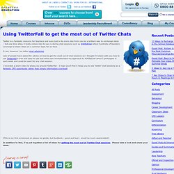 Using TwitterFall to get the most out of Twitter Chats