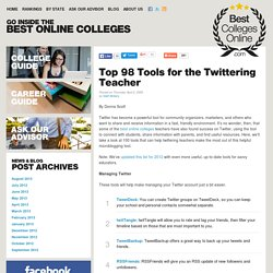 Top 100 Tools for the Twittering Teacher | Best Colleges Online