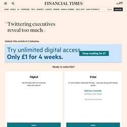 FT.com / Columnists / Lucy Kellaway - Twittering executives reve