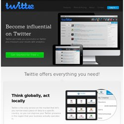 Twittie - smart twitter analytics