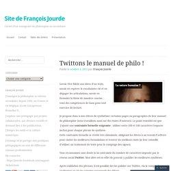 Twittons le manuel de philo !