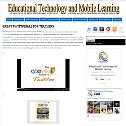 Great Twittorials for Teachers